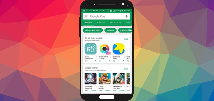 Google Play Store en smartphone Samsung