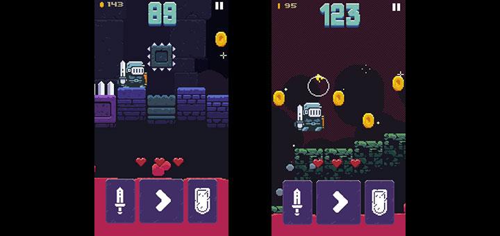 Capturas de pantalla del videojuego Hoppenhelm para Android e IOS