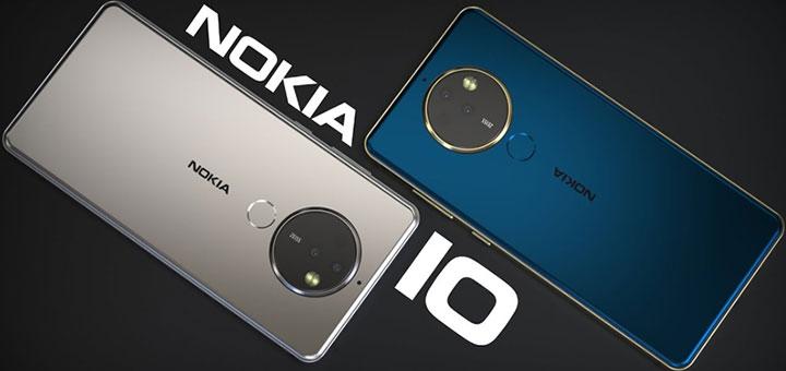Foto de dos Nokia 10 (plateado y azul)