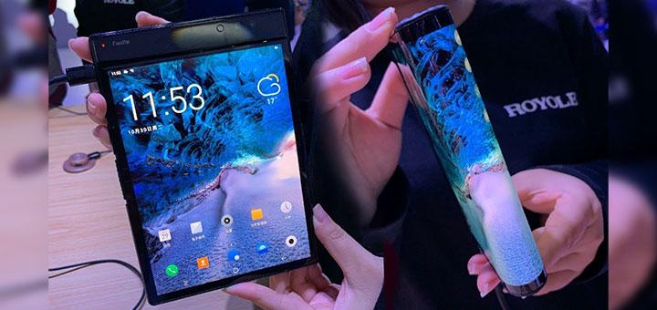 Foto del FlexPai, el primer smartphone plegable