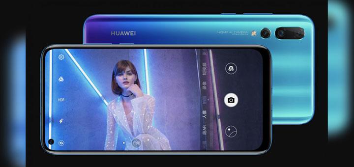 Foto de Huawei Nova 4 con agujero en la pantalla.