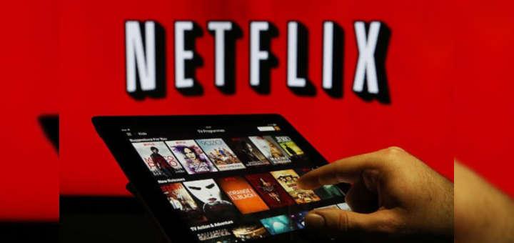 Foto de apliación Netflix en tablet.