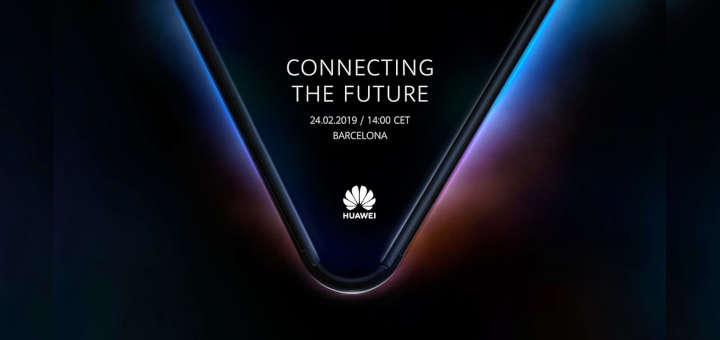 Logo de smartphone plegable de Huawei