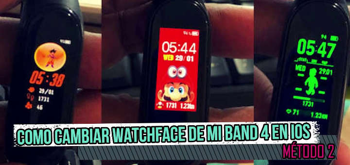 Mi Band 4, Watchfaces en Mi Band 4 en iOS (Método 2), Blog de Vladimir Ramos